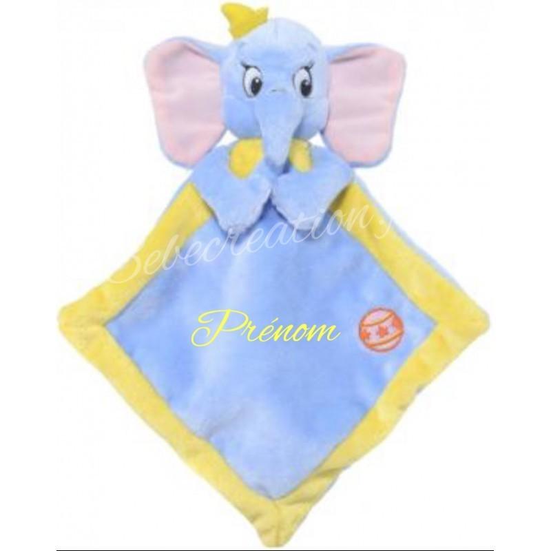 Doudous personnalisés (broderie)-au prenom-Dumbo Bleu