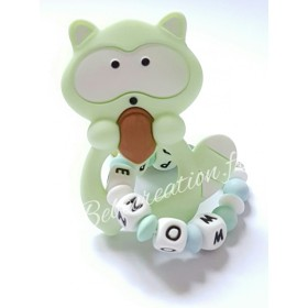 Hochet-perle-silicone-personnalisable-Hochet-silicone-Raton-Menthe-personnalise