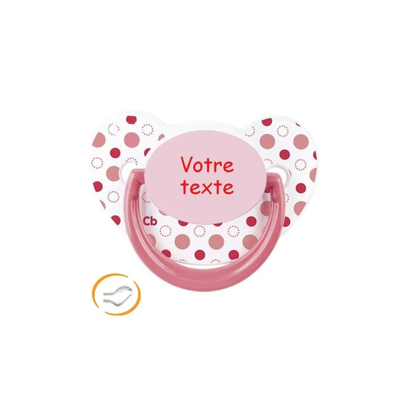 Tetine-personnalisee-couleur-a-pois-rose