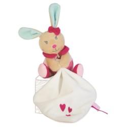 Doudou personnalisé broderie Disney ourson en peluche cape de bain carnet de santé personnalisé prénomPantin perle le lapin