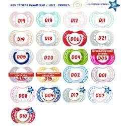 Tétine Animaux prénom couleur Thème Coccinelles Tétine personnalisée-- sucette Animaux prénom Thème Coccinelles Tétine person...