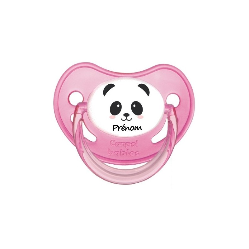 Sucette personnalisée Animaux Thème Panda Tétine personnalisée