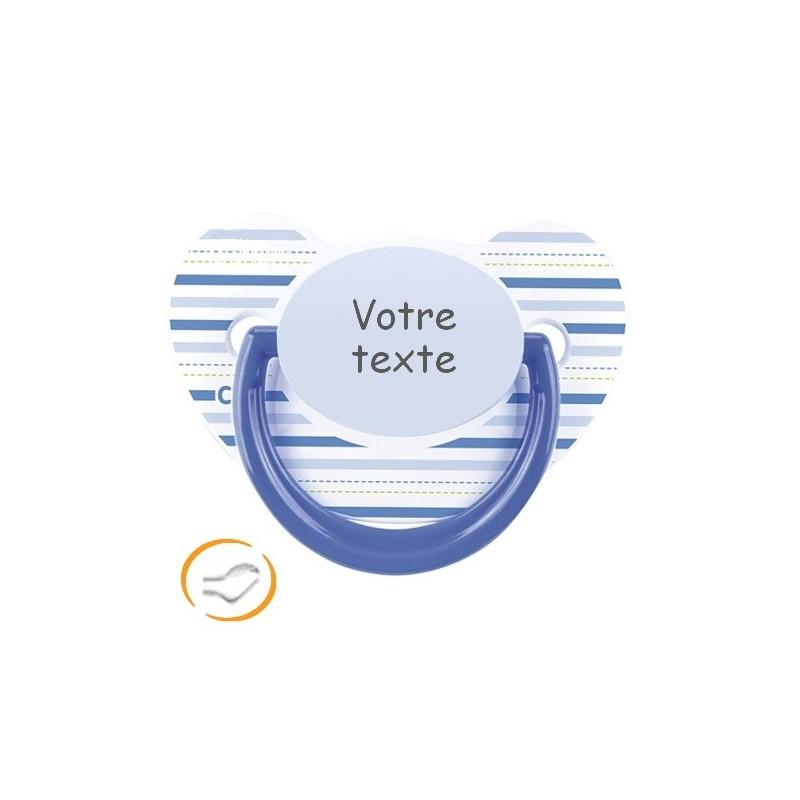 Sucette personnalisée A Rayure Bleue