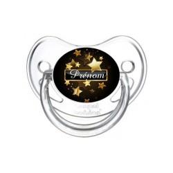 Sucette personnalisée Prénom Logo Thème Etoiles Tétine personnalisée Bébé Création