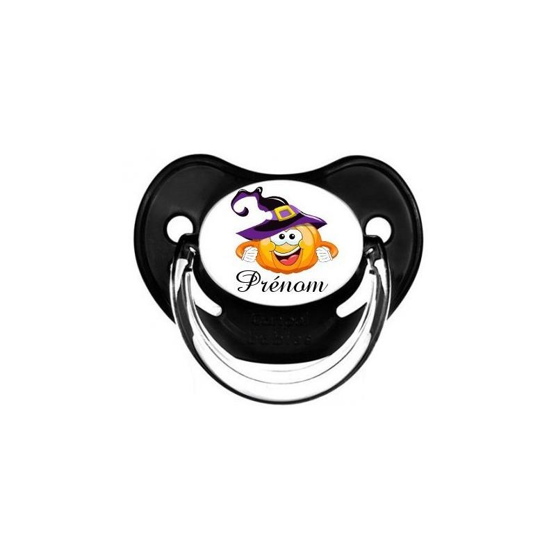 Sucette-personnalisee-prenom-Thème-HalloweenTetine-personnalisee
