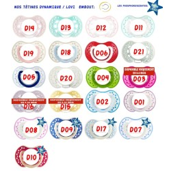 Sucette personnalisée Prénom Logo Thème Musique / PlumesTétine personnalisée Bébé Création