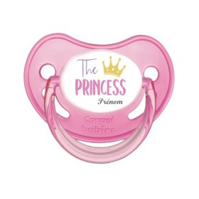 Sucette personnalisée prénom Thème Princesse / Prince Tétine personnalisée