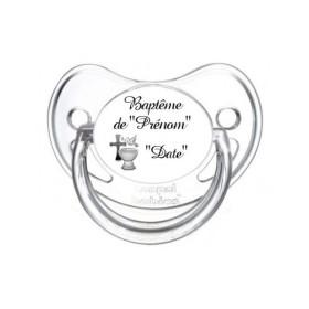 Sucette personnalisée prénom Baptême invitation Tétine personnalisée