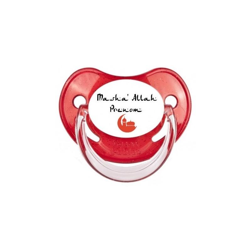 Sucette personnalisée Prénom Logo Masha Allah sucette personnalisée Bébé Création