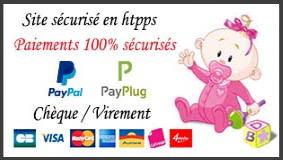 Accroche tétine personnalisée bébé création paiements